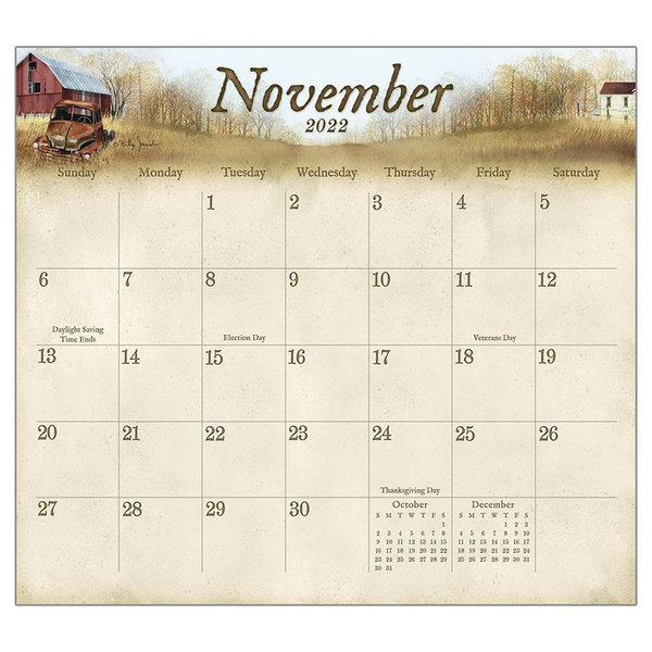 Legacy The Road Home 2022 magnetic calendar pad