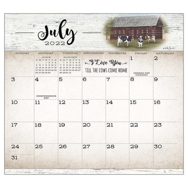 Legacy Farmhouse 2022 magnetic calendar pad