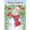 Snowman and Green Fence Boxed Christmas Cards