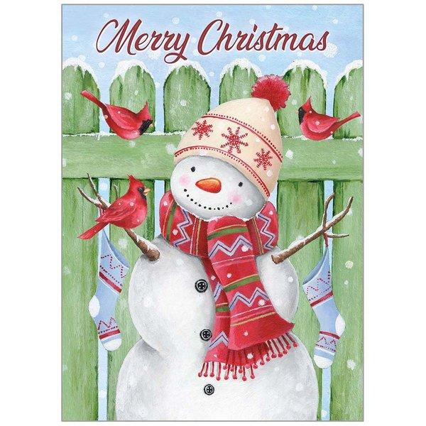 Legacy Snowman and Green Fence Boxed Christmas Cards