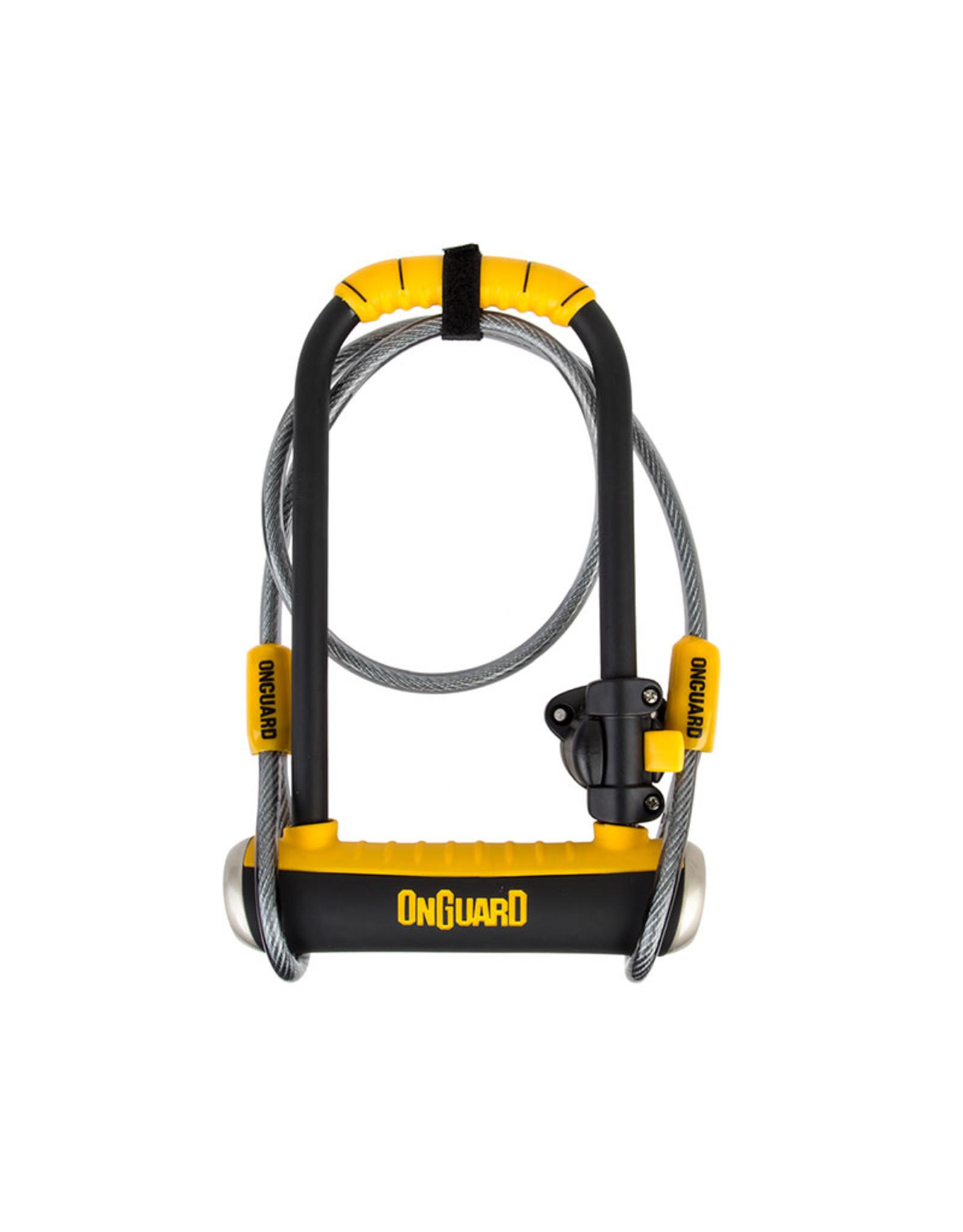 ONGUARD OnGuard 8005 Pitbull U-Lock Standard 4.5x9/10mmx4ft Cable