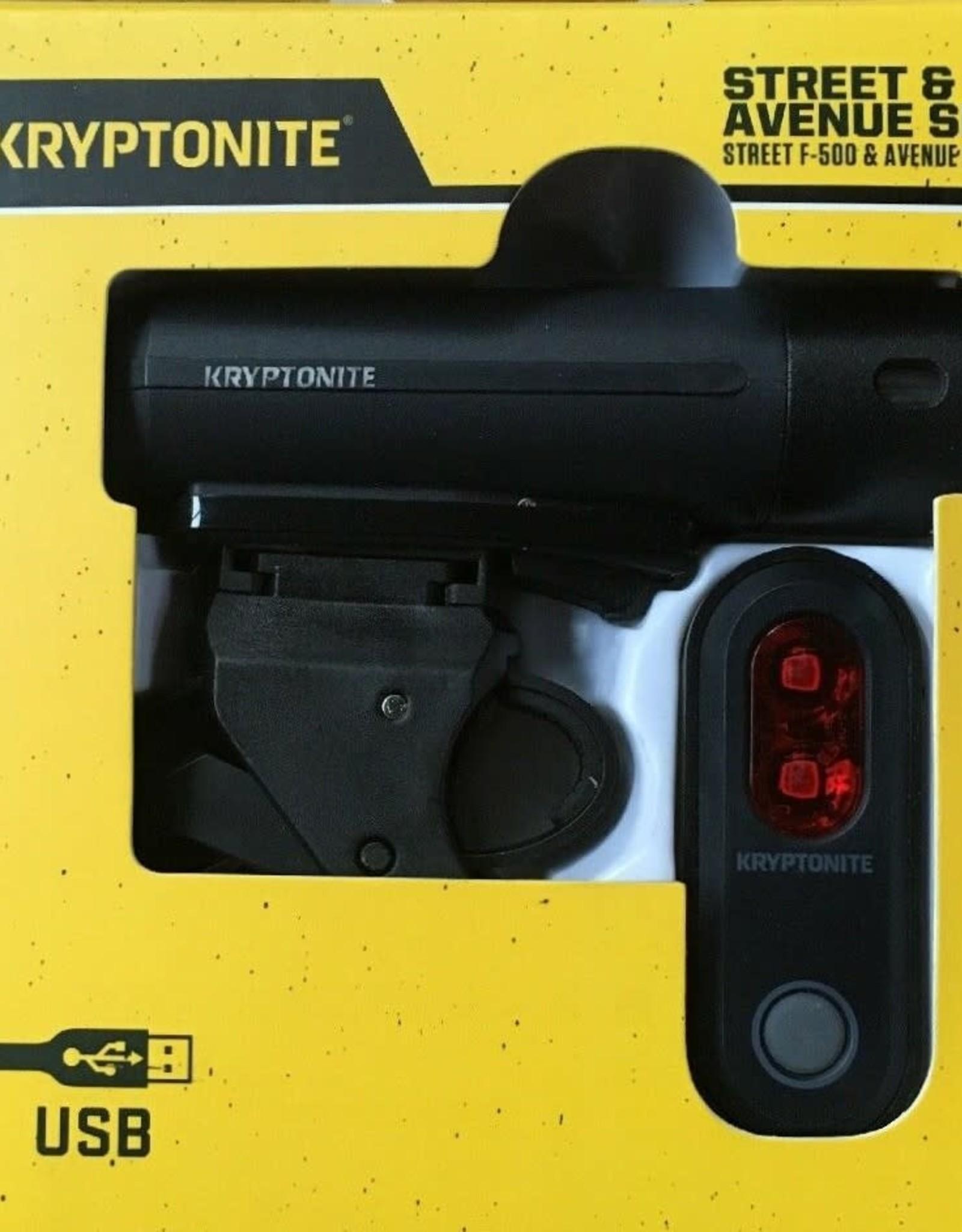 KRYPTONITE Kryptonite Combo Set Street F-500/ Avenue R-45 USB Black