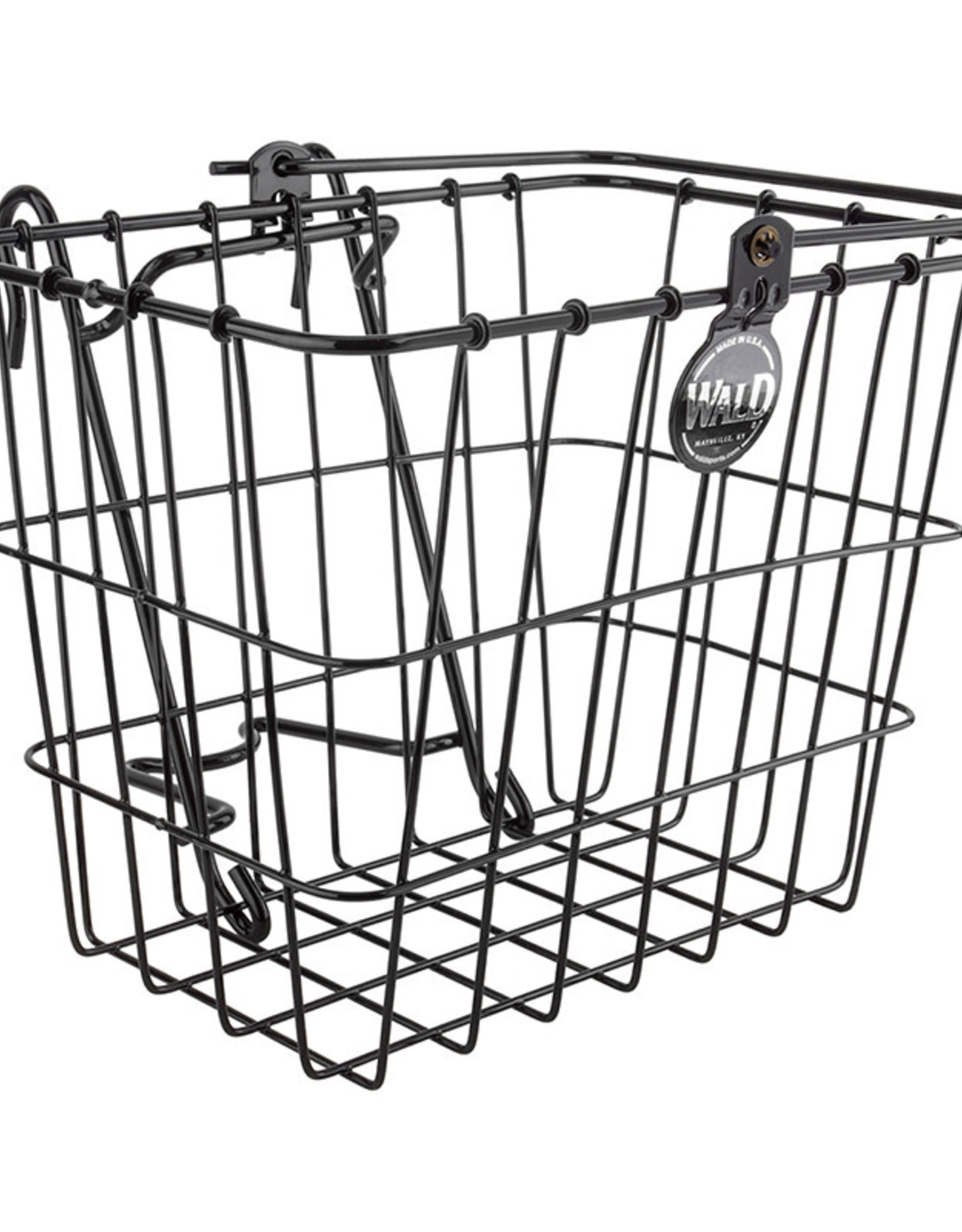 WALD PRODUCTS Wald 144 Lift-Off Front Basket,  14x9x9,  Black