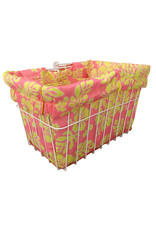 CRUISER CANDY Reversible Bike Basket Liner,  Standard, Hibiscus Pink & Yellow