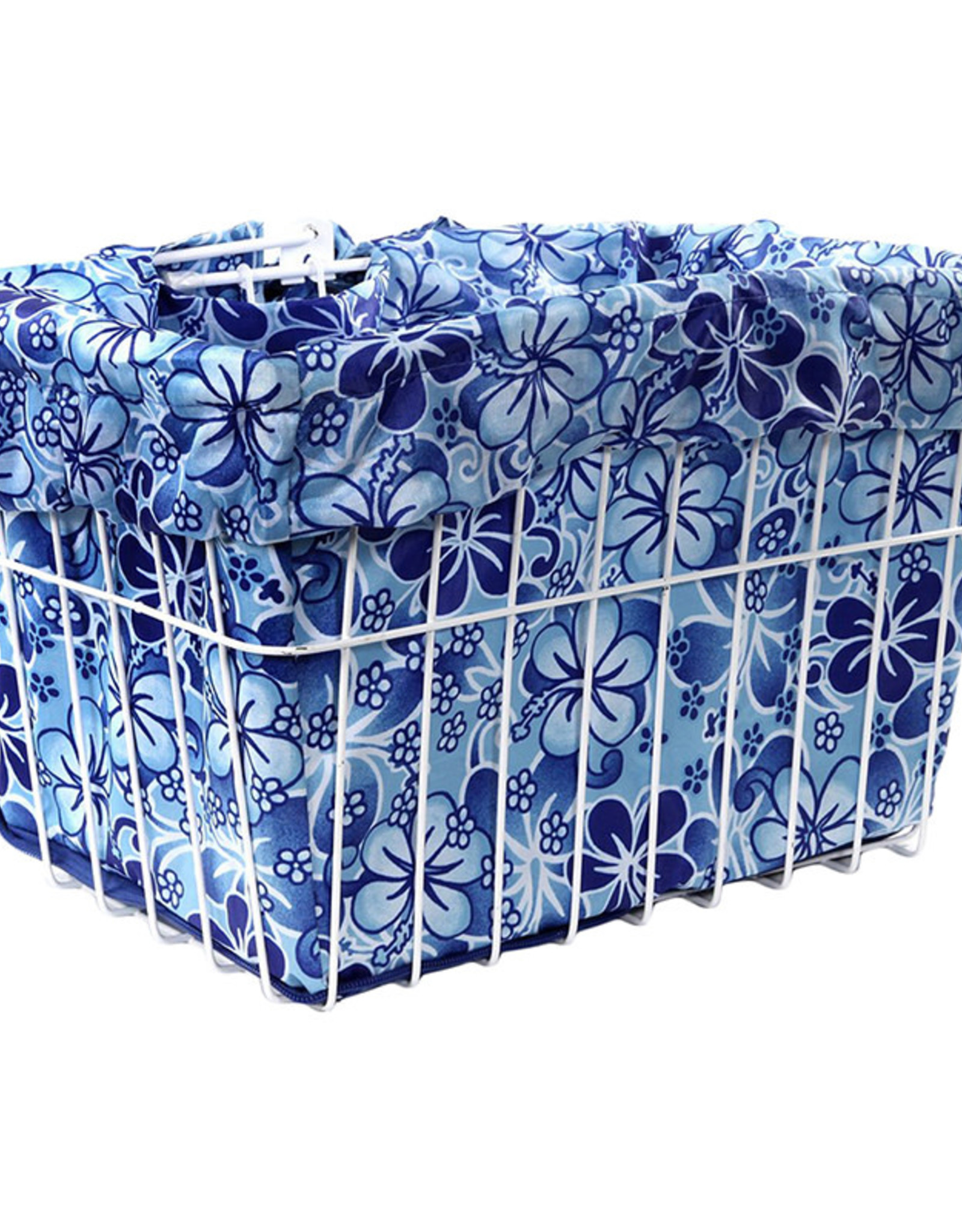 CRUISER CANDY Reversible Bike Basket Liner,  Standard, Hawaiian, Blue