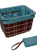 ELECTRA Reversible Basket Liner, Brown/Navajo,