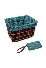 ELECTRA Reversible Basket Liner, Brown/Navajo
