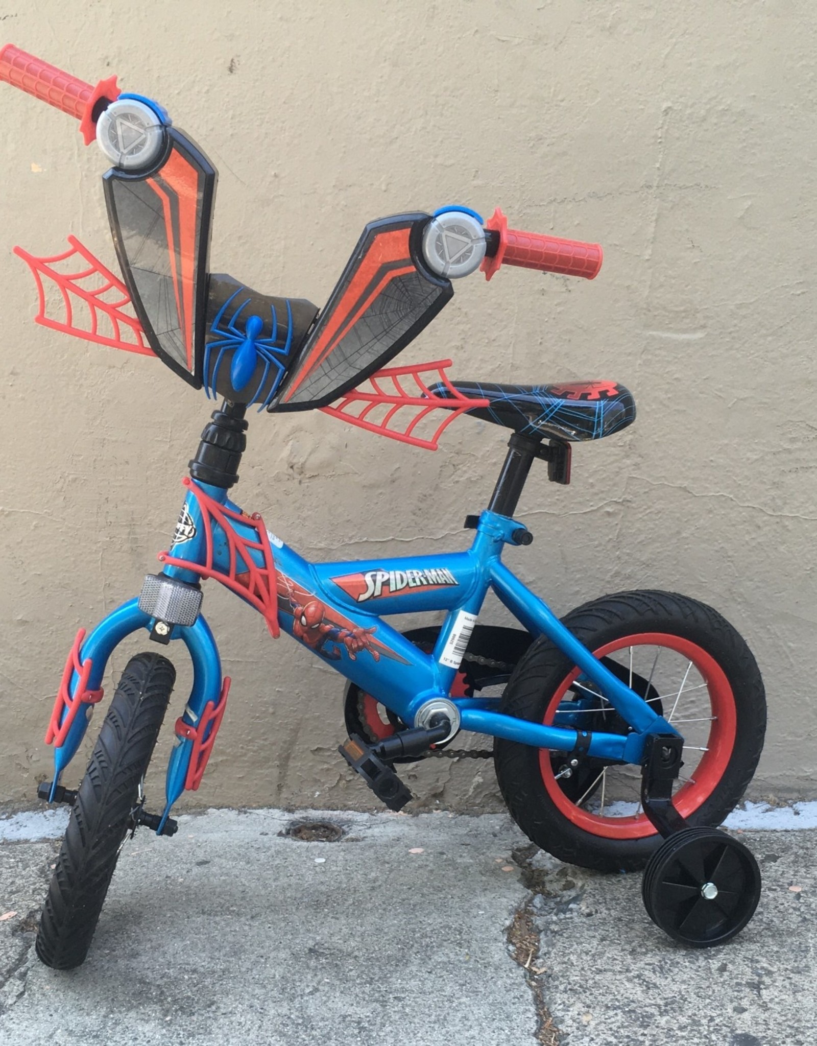 Huffy Huffy Spiderman Youth, 12in, Blue/Red