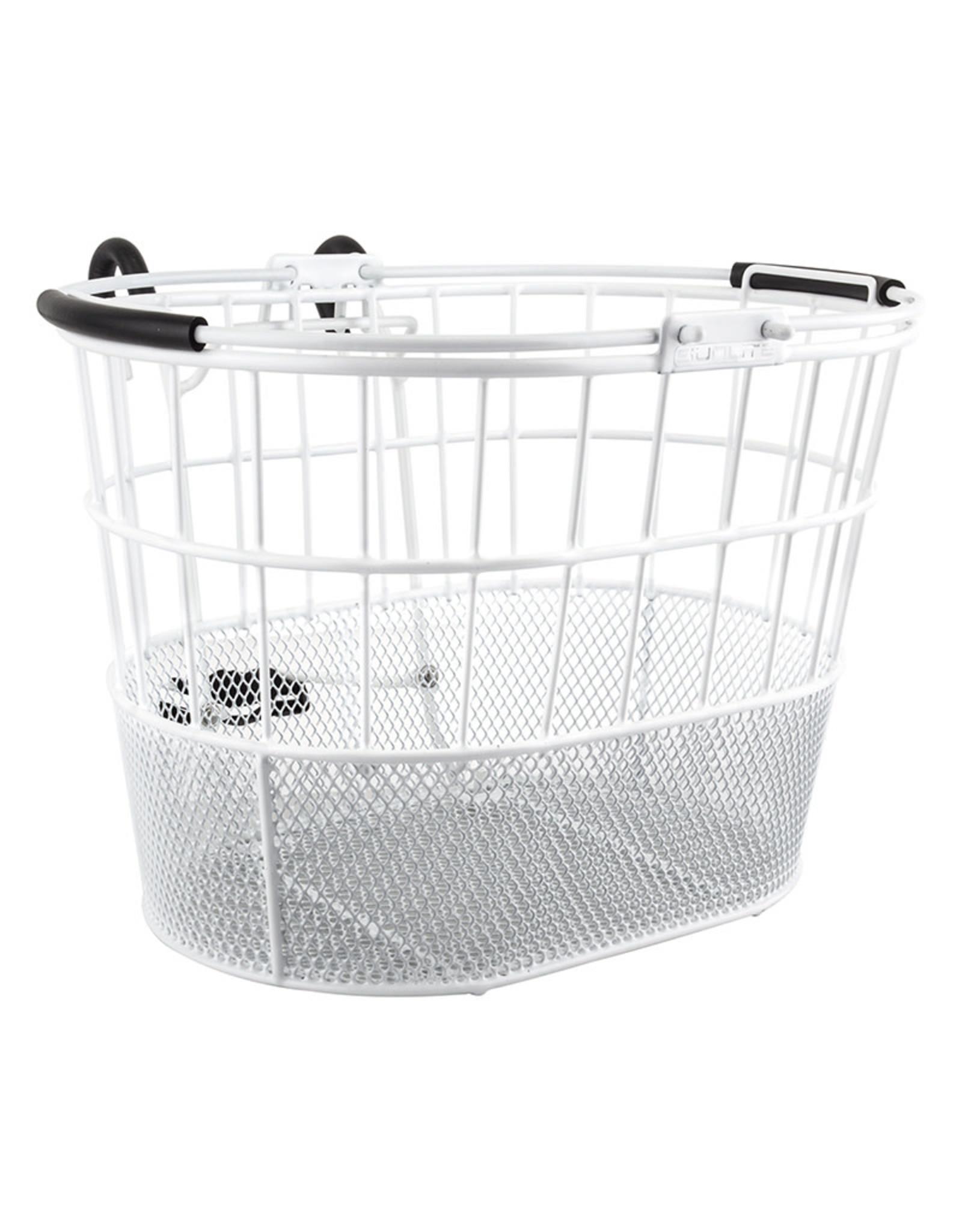 SUNLITE Basket Sunlite  Wire, Mesh Bottom, Oval, Lift-Off, Bracket, White