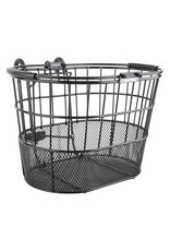 SUNLITE Sunlight Lift-Off Wire/Mesh Oval Basket, Black