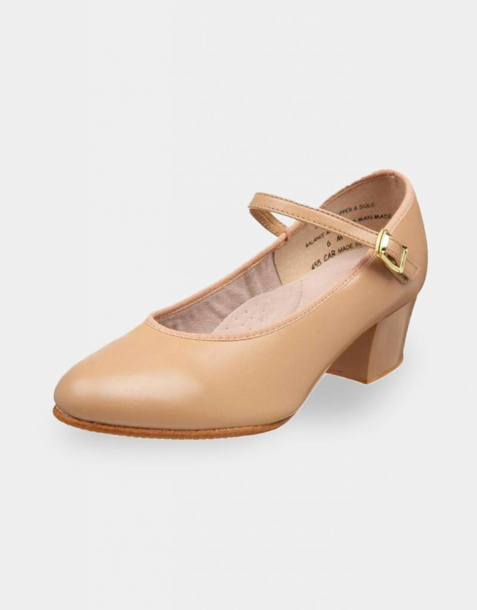 "CAPEZIO LILINA CUBAN HEEL LEATHER 1.5"" CHARACTER SHOES (455)"