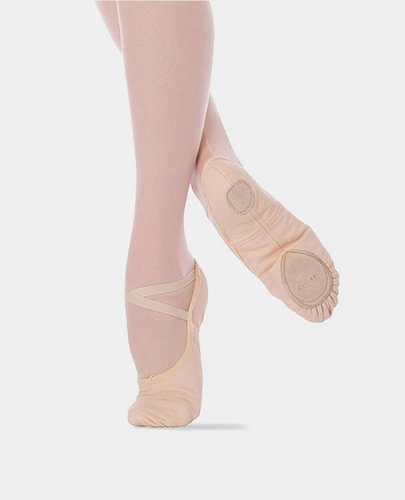 ANGELO LUZIO WENDY STRETCH CANVAS SPLIT SOLE BALLET SLIPPERS (246)