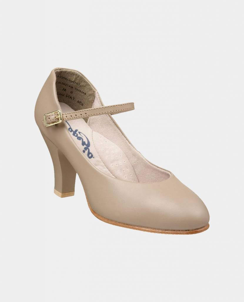 CAPEZIO 3'' LEATHER CHARACTER SHOES (656)