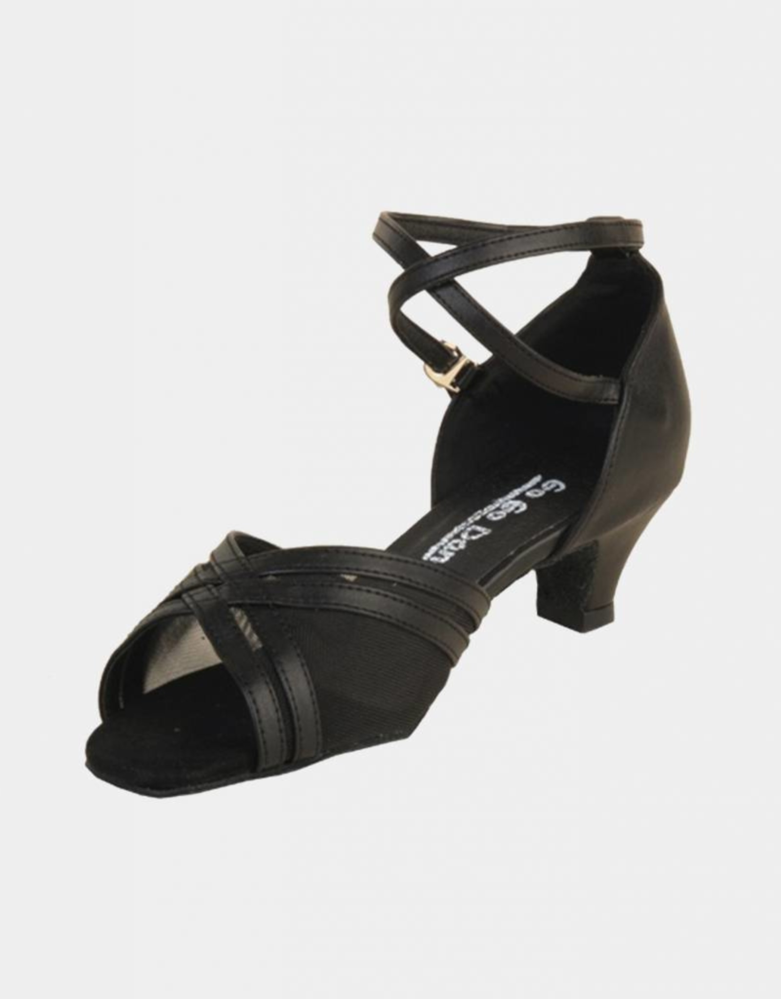 LEATHER AND MESH BALLROOM DANCE SHOES (GO7010)
