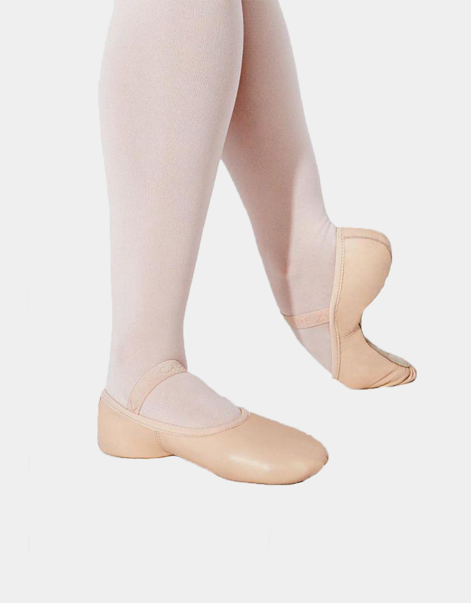 CAPEZIO LILY CHILD - LEATHER FULL SOLE BALLET SLIPPERS (212C)