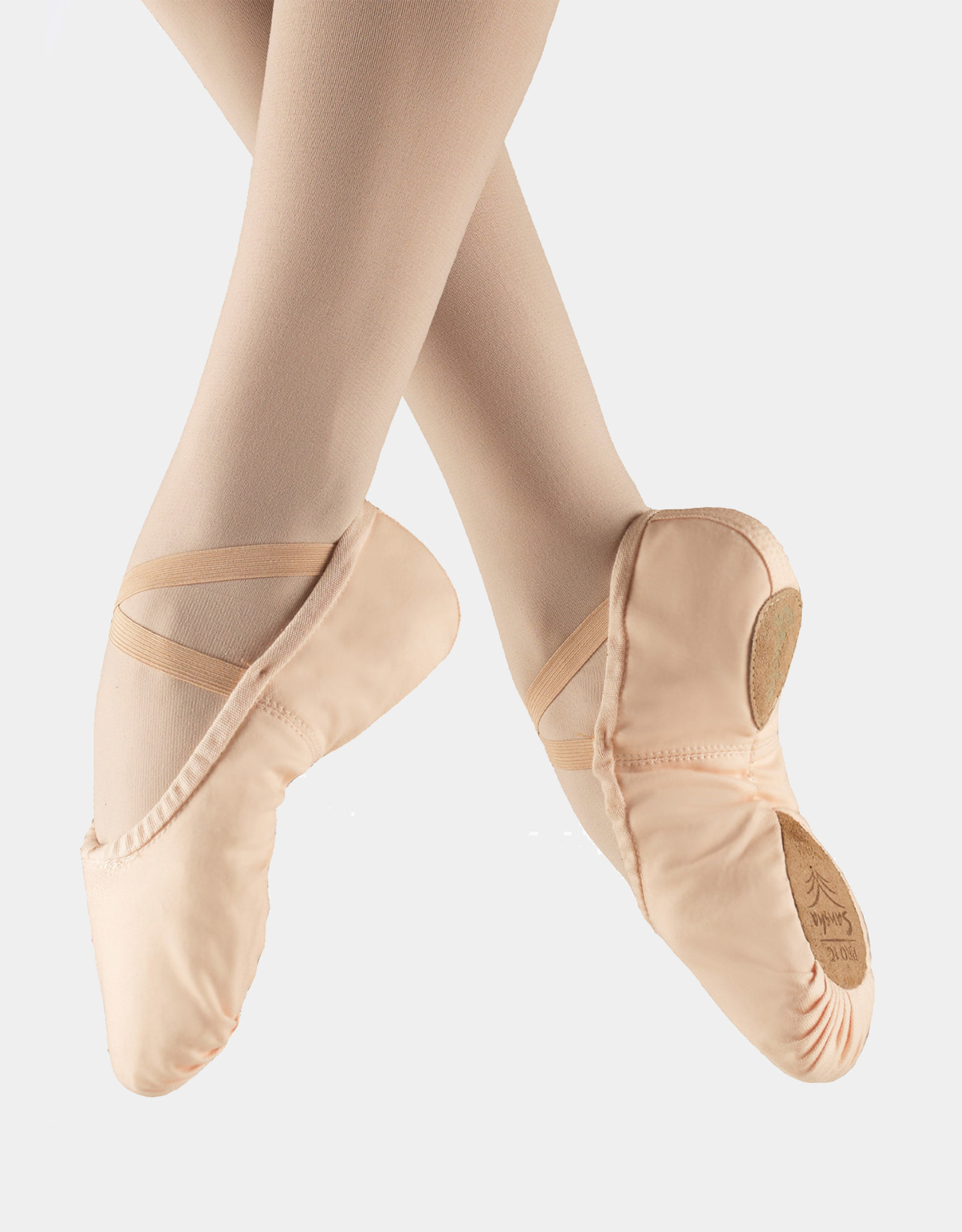 SANSHA PRO CANVA SPLIT SOLE BALLET SLIPPERS (1C)