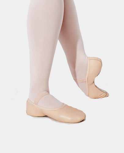 CAPEZIO BALLET SLIPPER DEMI POINTE LEATHER FULL SOLE (LILY - 212 ADULT )