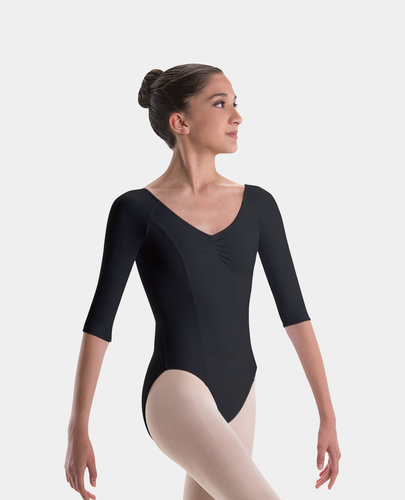 MOTIONWEAR RAGLAN SLEEVE KEYHOLE BACK LEOTARD (2194)