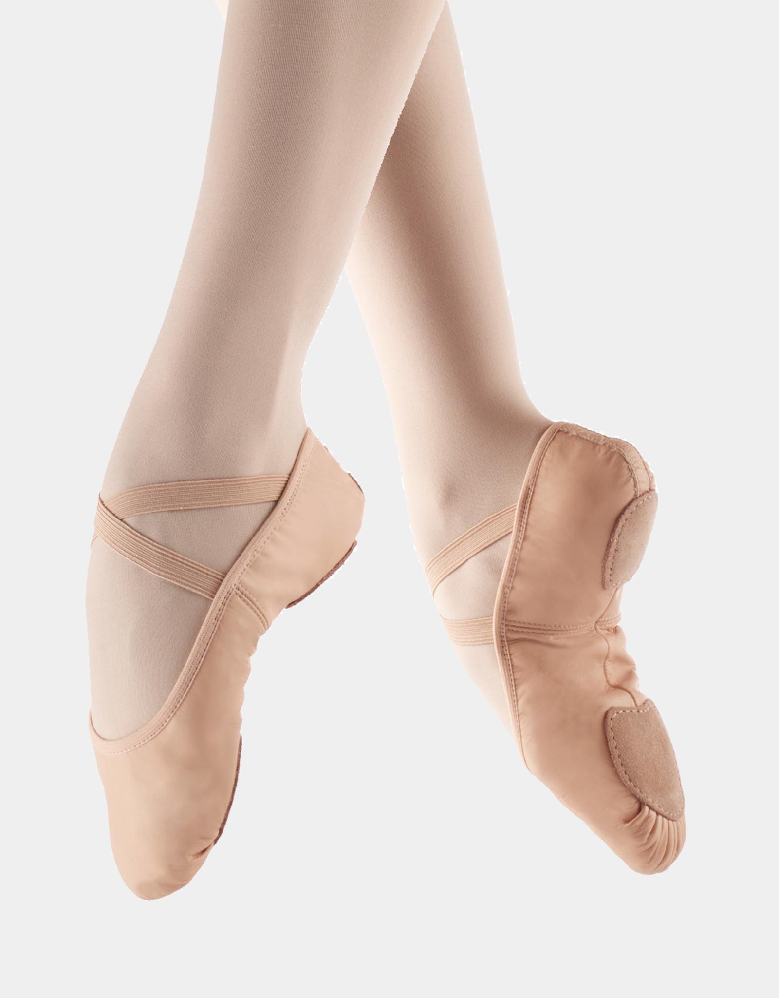 SO DANCA LEATHER SPLIT SOLE BALLET SLIPPERS (SD60)