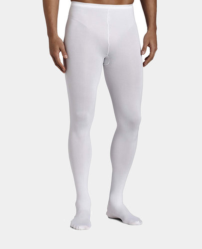CAPEZIO MEN'S KNIT FOOTED TIGHTS W/BACK SEAMS (MT11)