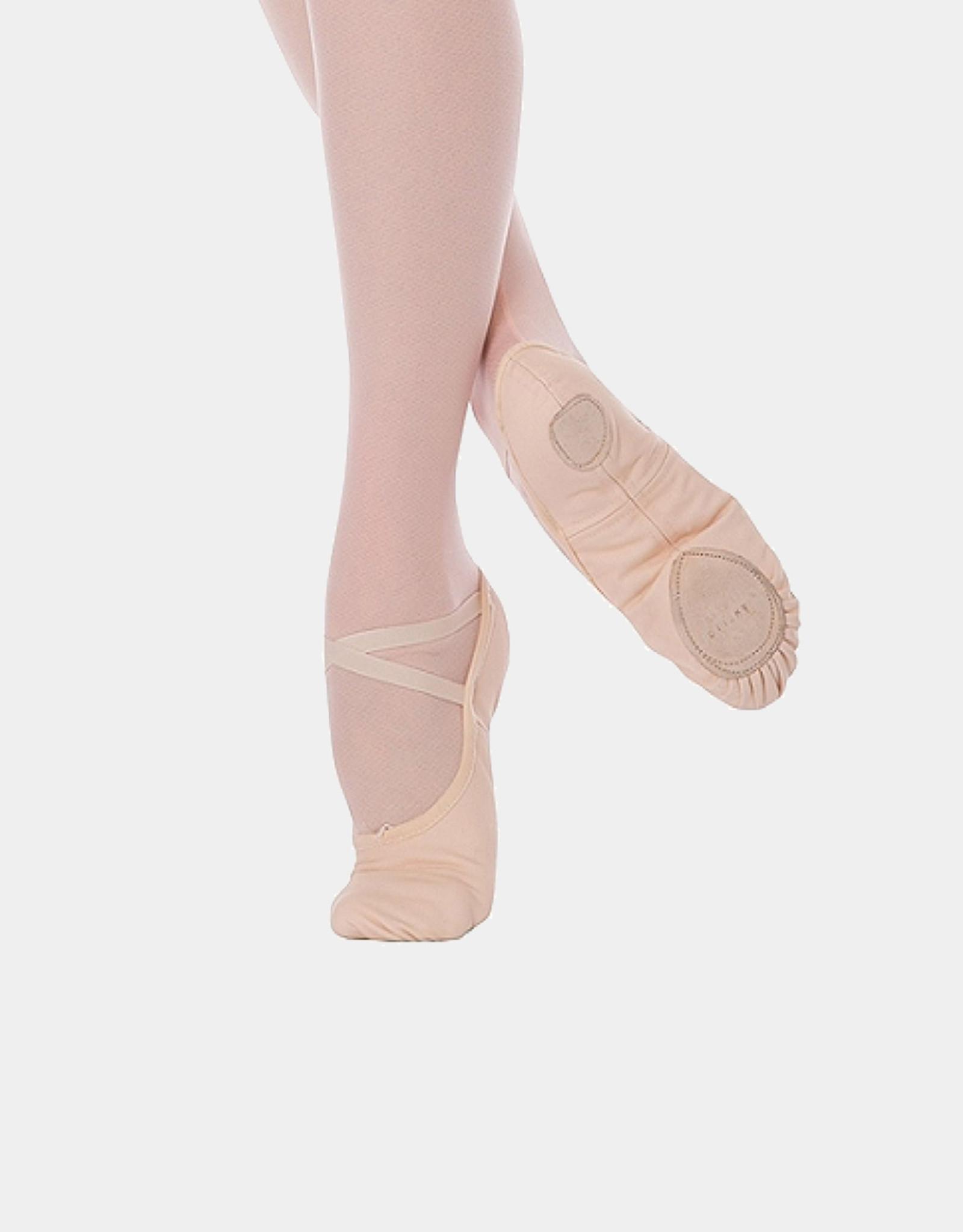 ANGELO LUZIO WENDY STRETCH CANVAS SPLIT SOLE CHILD BALLET SLIPPERS (246C)