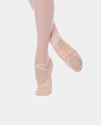 ANGELO LUZIO WENDY STRETCH CANVAS SPLIT SOLE CHILD BALLET SLIPPERS (246C)