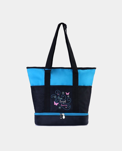 SASSI LIVE, LAUGH, DANCE LARGE TOTE BAG (LLD-01)