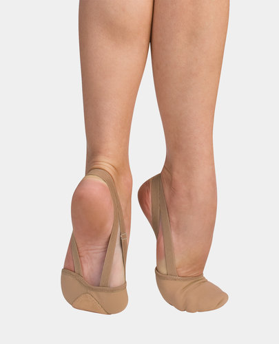 BODY WRAPPERS STRECH CANVAS PLEATED HALF SOLE SLIPPER