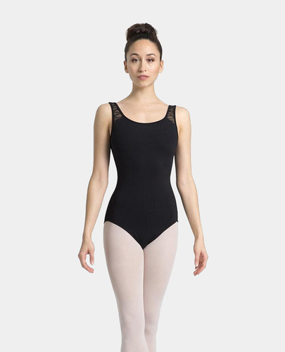 MIRELLA WAVE MESH OPEN BACK TANK LEOTARD