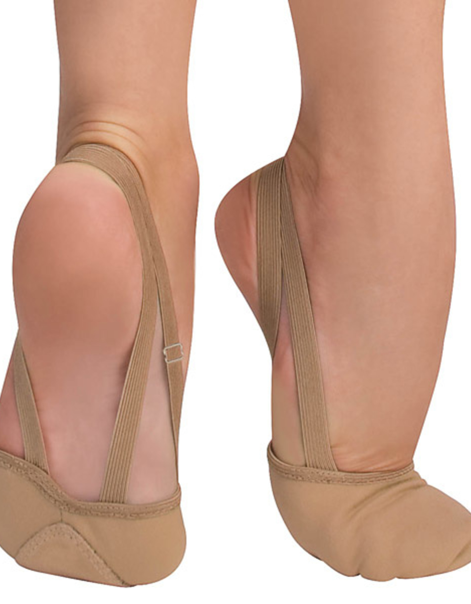 ANGELO LUZIO DEMI-CHAUSSONS EN TOILE TOTAL STRETCH (620A)