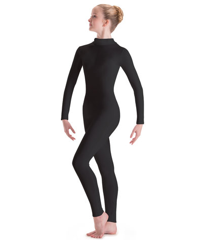 MOTIONWEAR TURTLENECK ZIP FRONT SILKSKYN LONG SLEEVE UNITARD (6662)