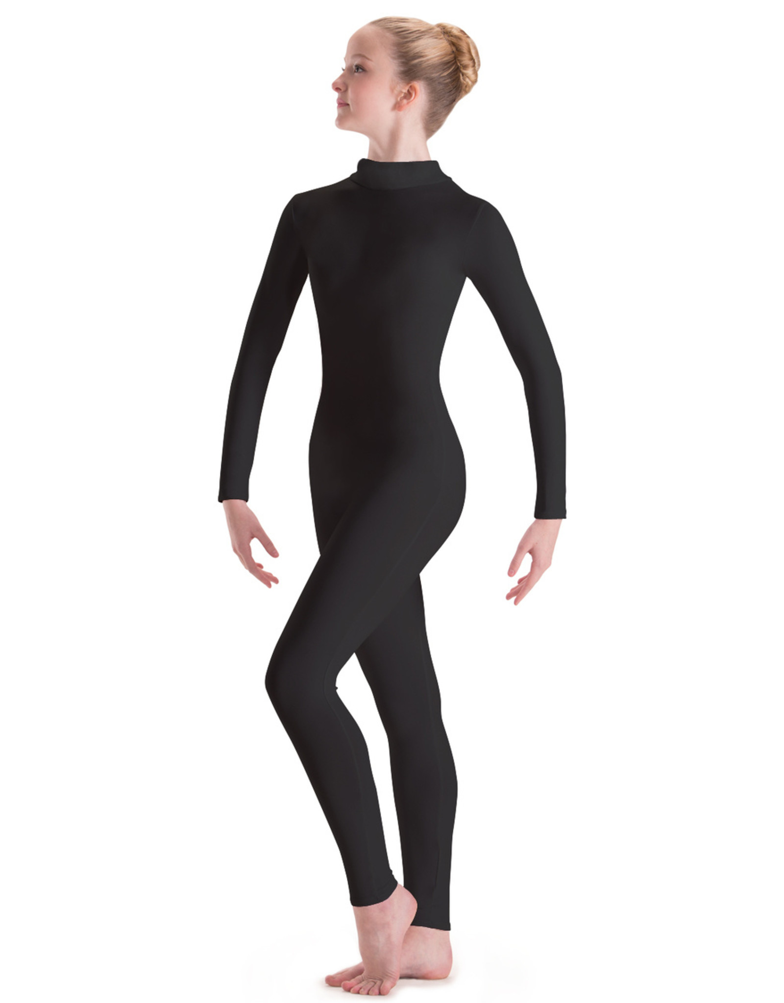 MOTIONWEAR TURTLENECK ZIP FRONT SILKSKYN LONG SLEEVE UNITARD (6662C)