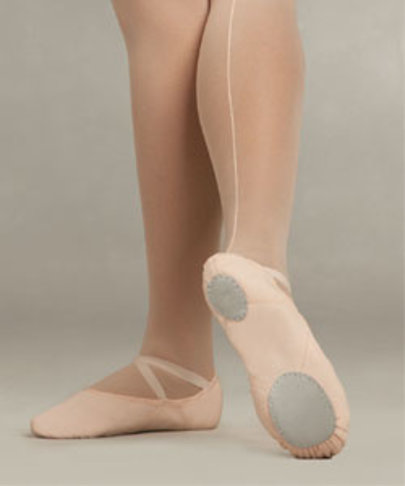 CAPEZIO JULIET SPLIT SOLE CANVAS BALLET SLIPPERS (2028A)
