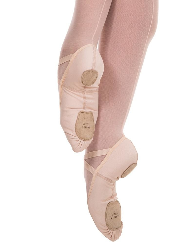 ANGELO LUZIO TOTAL STRETCH CANVAS SPLIT SOLE BALLET SLIPPERS (248A)