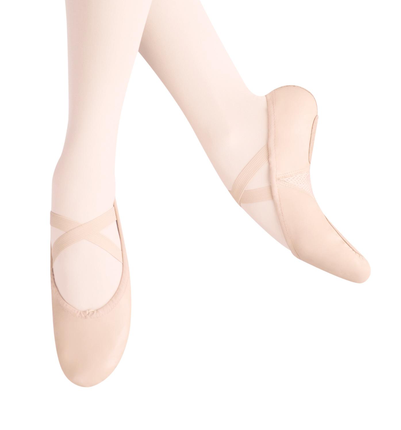 ARABESQUE LEATHER BALLET SLIPPERS (105)