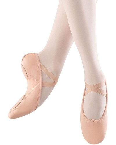 BLOCH PUMP HYBRID LEATHER SPLIT SOLE AND CANVAS ARCH BALLET SLIPPERS (SO273L)