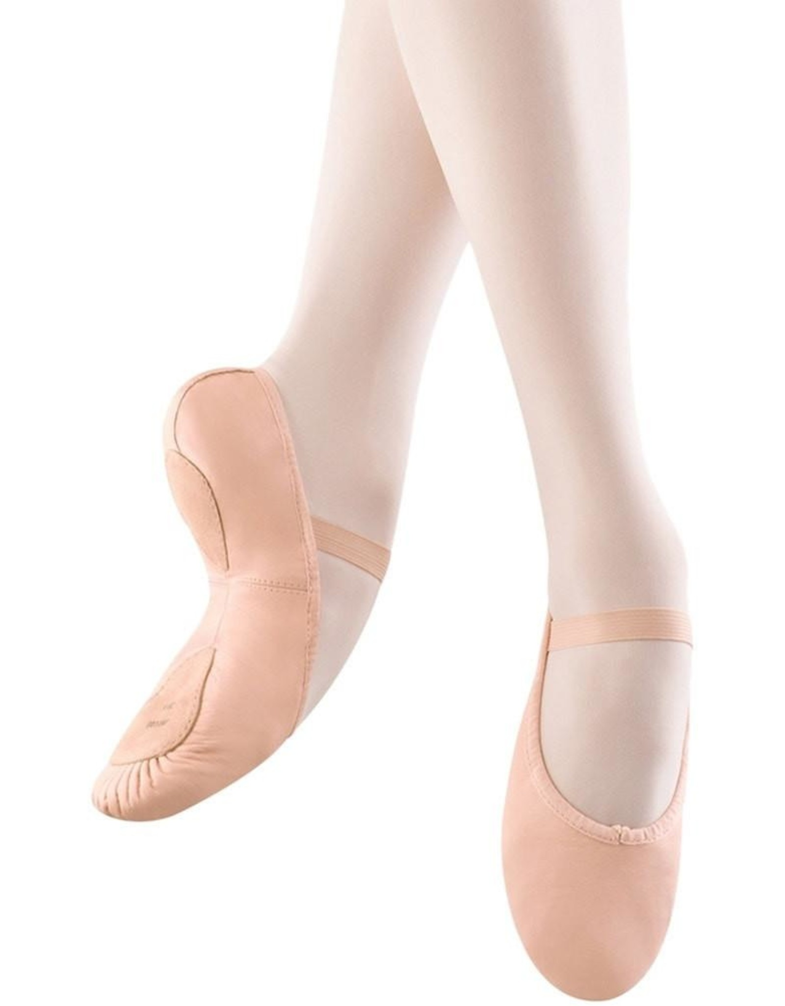 BLOCH DANSOFT ll LEATHER SPLIT SOLE W/STRECH ARCH INSERT GIRLS BALLET SLIPPERS (SO258G)