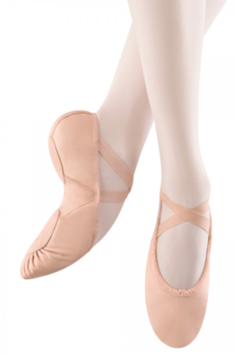 BLOCH PROLITE ll HYBRID LEATHER SPLIT SOLE WITH SOFT CANVAS ARCH INSERT BALLET SLIPPERS (SO203L)