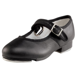 CAPEZIO MARY JANE LEATHER BUCKLE STRAP CHILD TAP SHOES (3800C)