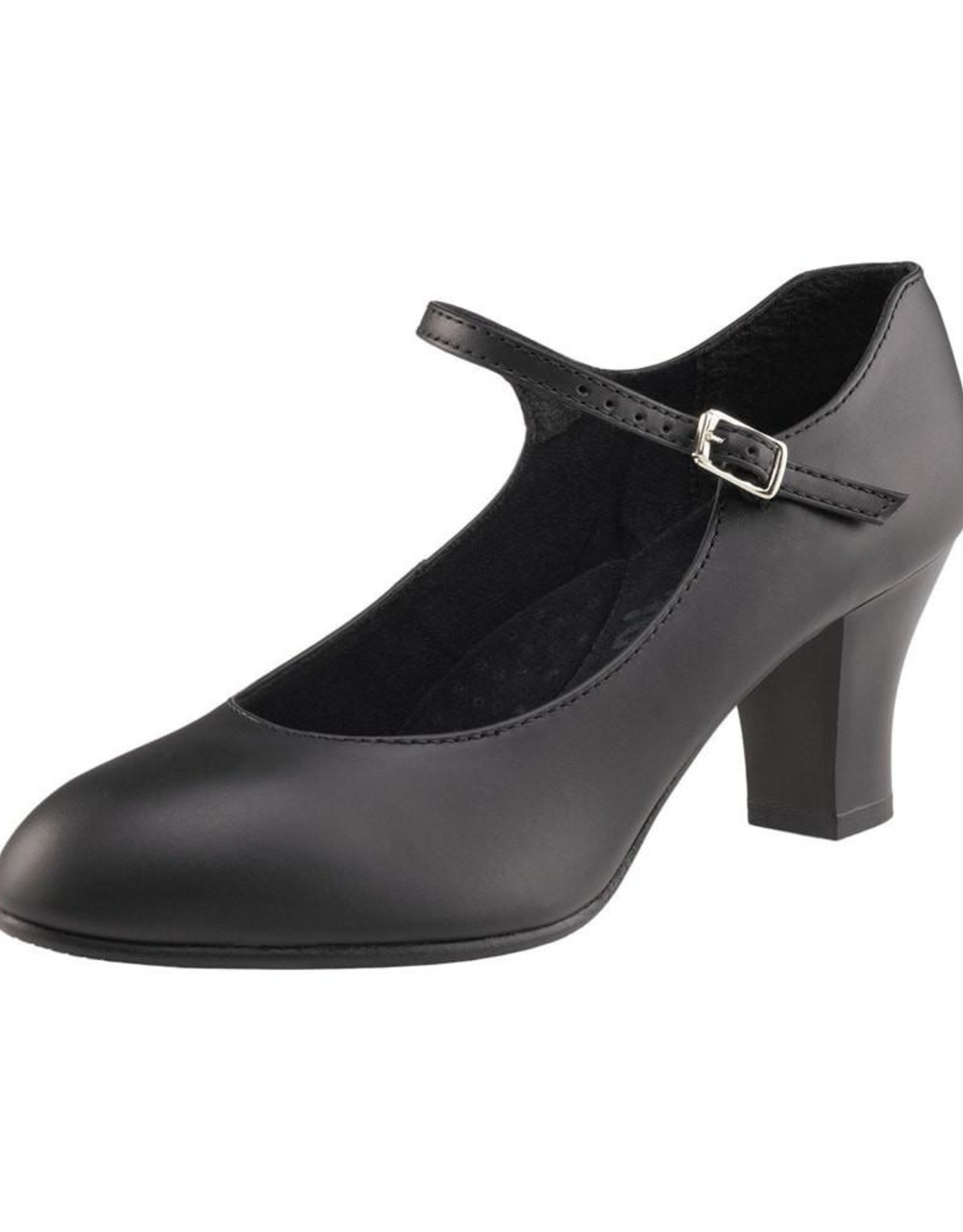 """CAPEZIO STUDENT FOOTLIGHT LEATHER 2"""" CHARACTER SHOES (650)"""