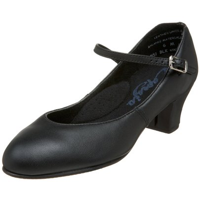 CAPEZIO JR. FOOTLIGHT LEATHER CHARACTER SHOES (551)