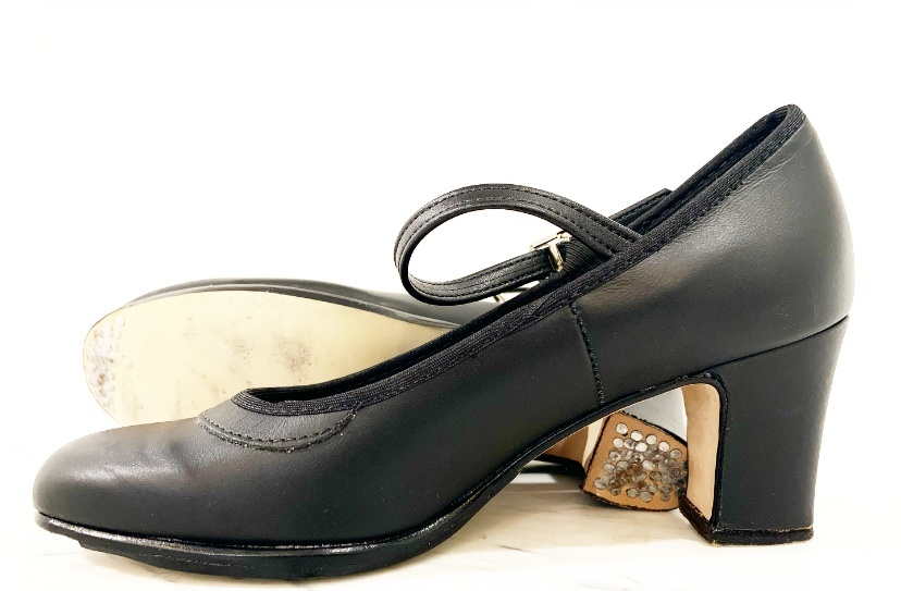 ANGELO LUZIO LEATHER BUCKLE CLOSURE FLAMENCO SHOES (915)