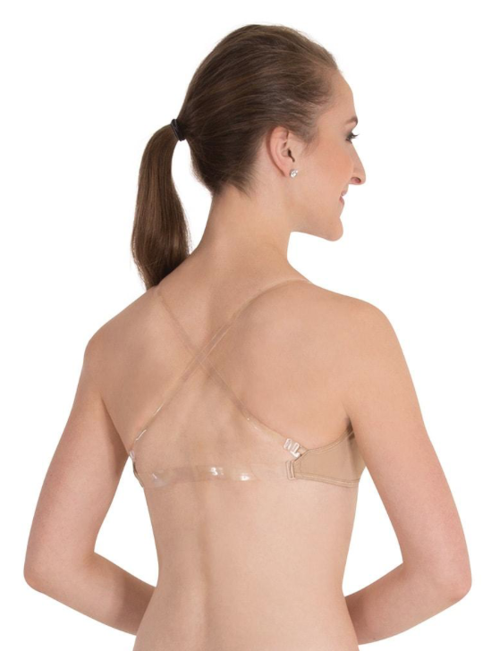 BODY WRAPPERS DEEP V CLEAR BACK CONVERTIBLE BRA UNDERGARMENT (283)
