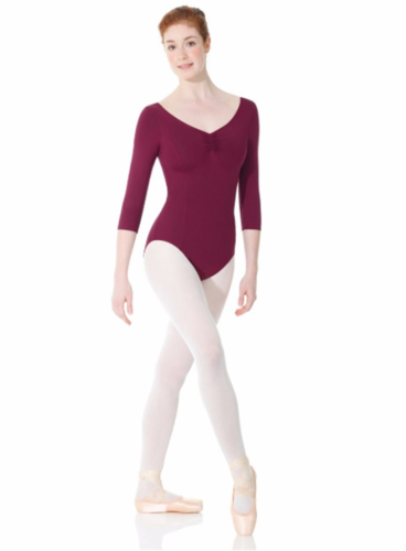 MONDOR MATRIX 3/4 SLEEVES LEOTARD (3508)