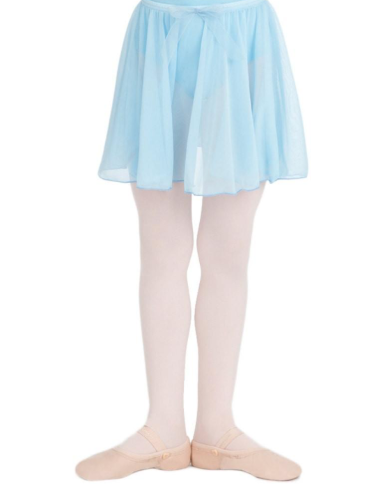 CAPEZIO BOW DETAIL CIRCLE CUT PULL-ON GIRLS BALLET SKIRT (N1417C)