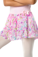 DANSHUZ PASTEL WATERCOLOR PRINT CIRCLE SKIRT (2605C)