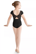 BLOCH CELIA DAISY MESH BOW BACK CAP SLEEVE LEOTARD (CL9972)