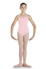BLOCH PAISLEE SWEETHEART DIAMANTE NECKLINE KEYHOLE BACK CHILD TANK LEOTARD (CL4835)