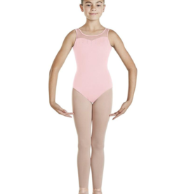 BLOCH PAISLEE SWEETHEART DIAMANTE NECKLINE KEYHOLE BACK CHILD TANK LEOTARD (CL4835)