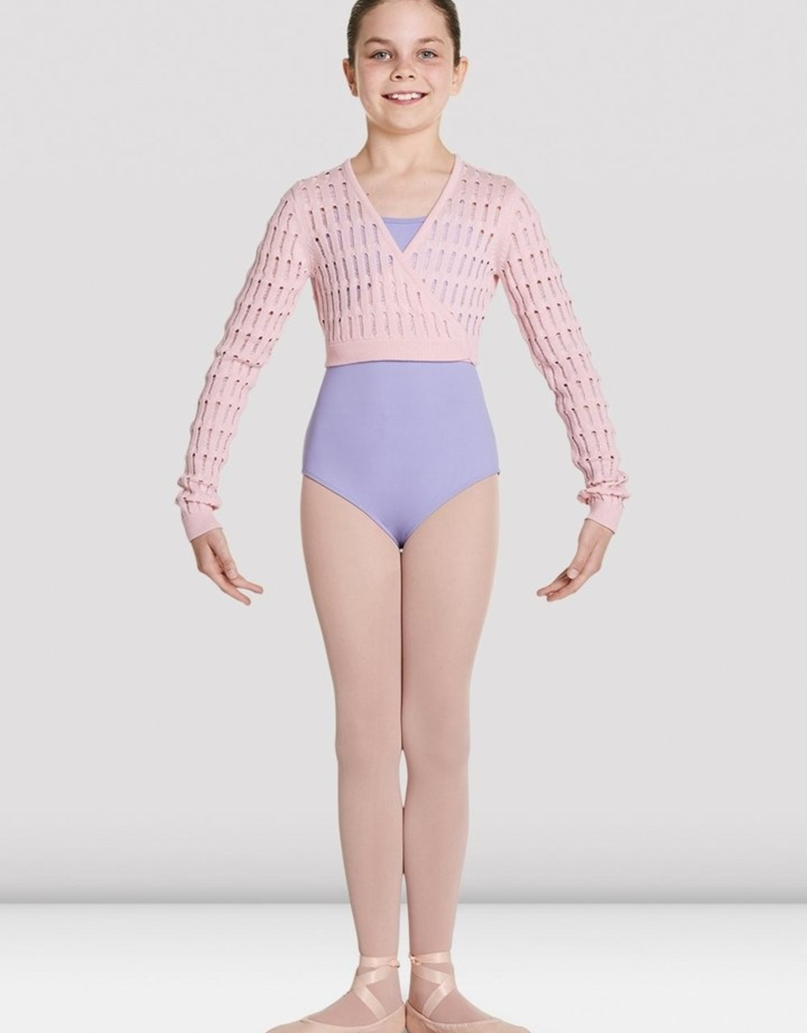BLOCH STEFANIA KNITTED LONG SLEEVE WRAP TOP (CZ5549)